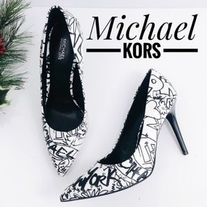 Michael Kors Graffiti Leather Pump- Used